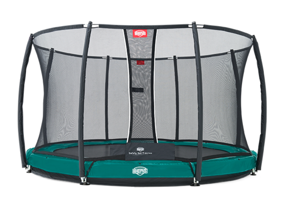 Батут зеленый Berg InGround Elite+ Safety Net T-Series 12,5 ft (3,80 м)