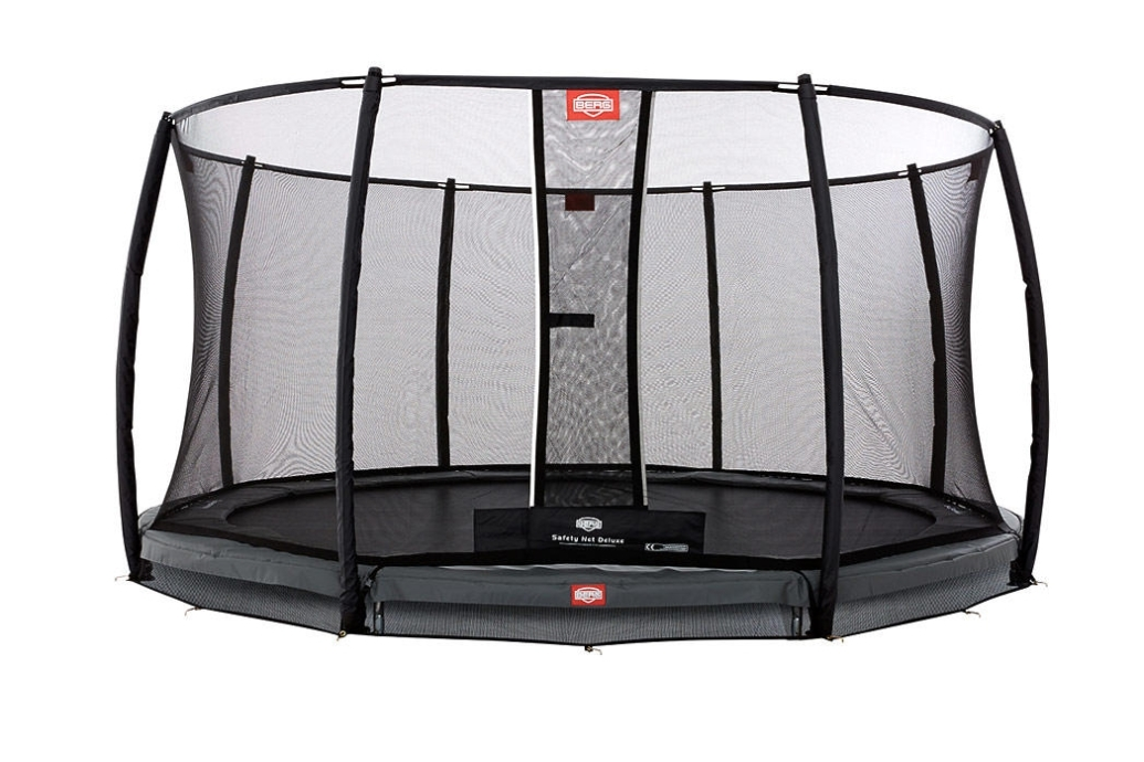 Батут серый Berg InGround Champion Safety Net Deluxe 12,5 ft (3,80 м)